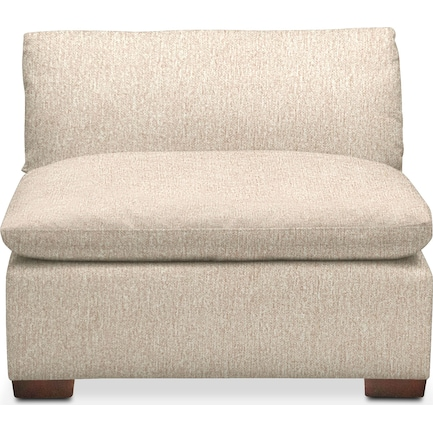 Plush Feathered Comfort Performance Fabric Armless Chair - Halifax Shell