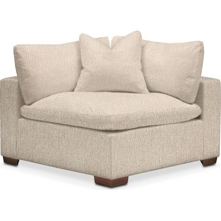 Plush Feathered Comfort Performance Fabric Corner Chair - Halifax Shell