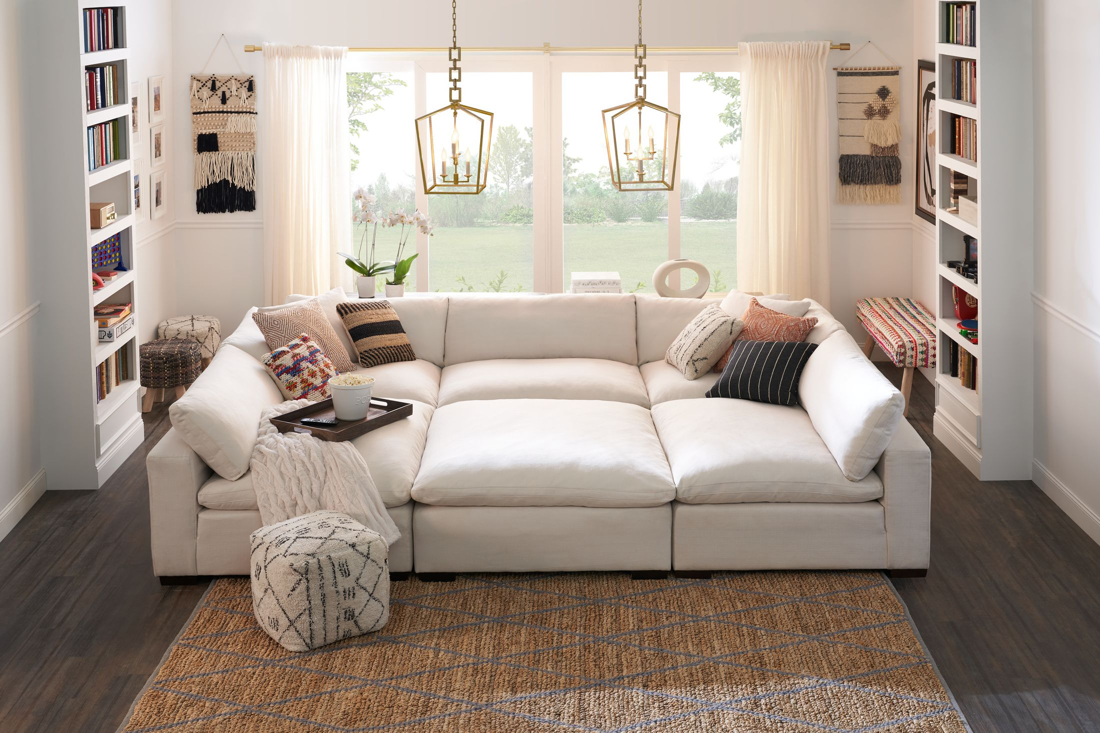 Living Room Furniture - Plush 6-Piece Sectional