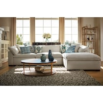 plush white sofa