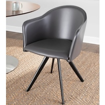 polly gray accent chair