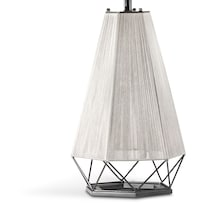 polygon stainless steel table lamp
