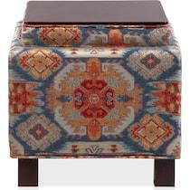 pomona multicolor storage ottoman