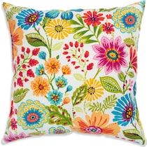 poppy multicolor outdoor pillow