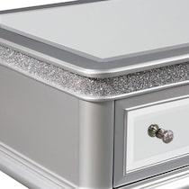 posh silver coffee table