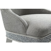posh silver dining chair