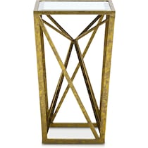 poway gold accent table