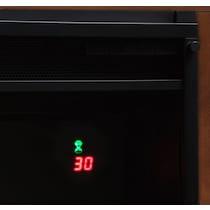 prairie dark brown fireplace tv stand