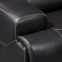 preston black  pc power reclining living room