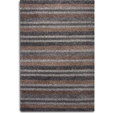 Rainn 5' X 8' Area Rug - Black
