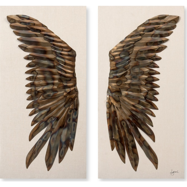 Home Accessories - Raven Wings Set of 2 Wall Art