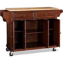 ravenna dark brown kitchen cart