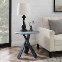 reel gray side table