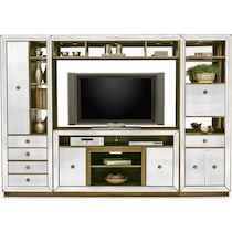 reflection entertainment mirrored entertainment wall unit