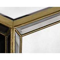 reflection antiqued mirror coffee table