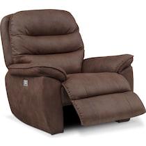 regis dual power brown recliner
