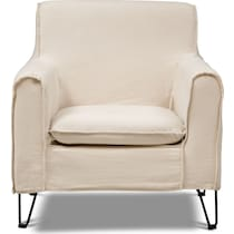 reid beige accent chair
