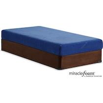 renew blue full mattress foundation set