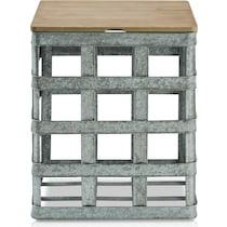 retta gray side table