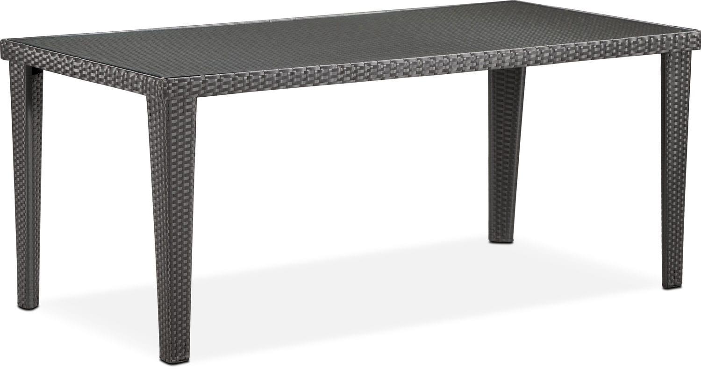 Outdoor Furniture - Rex Outdoor Rectangular Dining Table - Brown