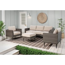 reyes gray outdoor chair set