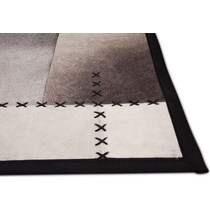 rhys black and ivory area rug ' x '