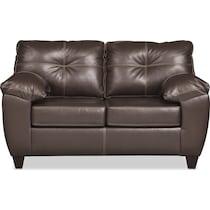 ricardo brown living room dark brown loveseat