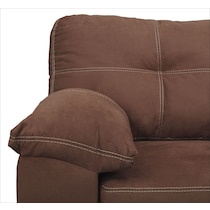 ricardo coffee dark brown sofa