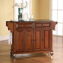 richmond dark brown kitchen cart