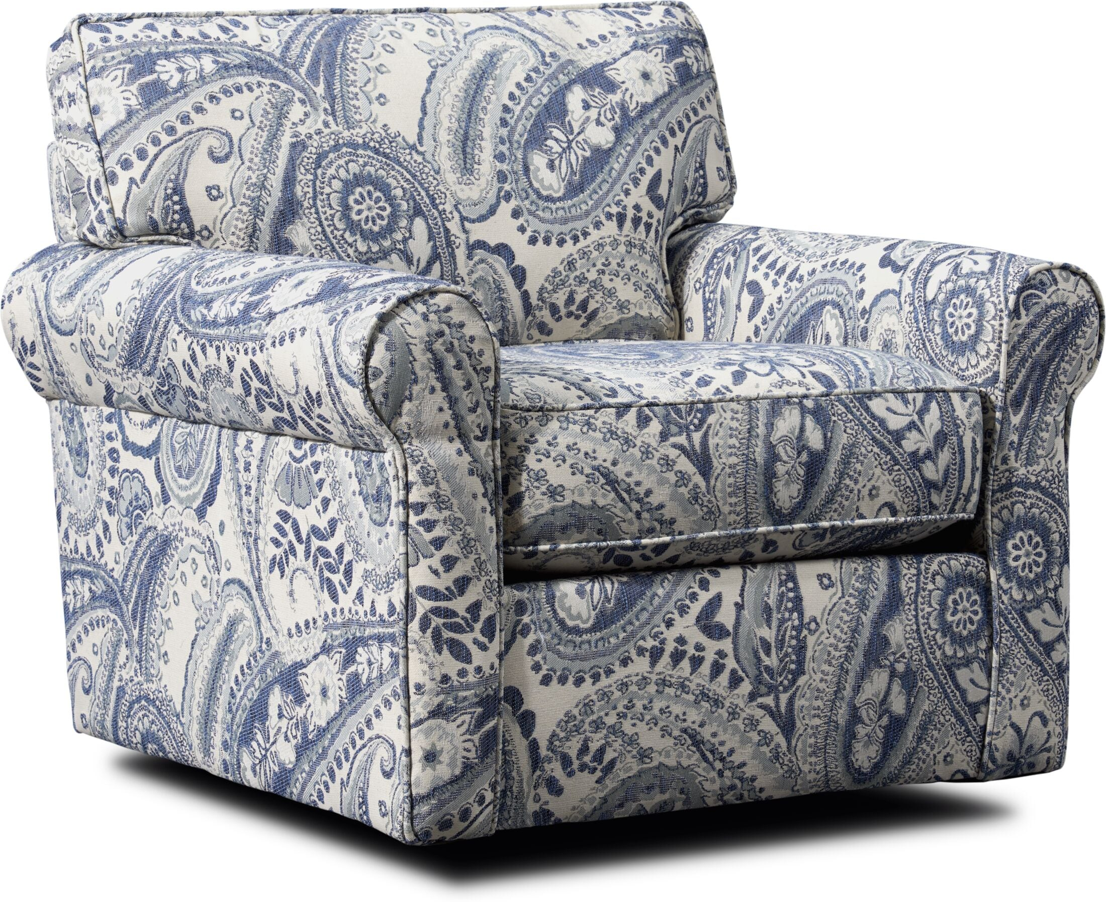 Living Room Furniture - Riley Swivel Accent Chair