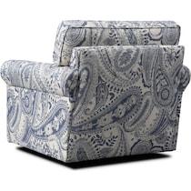 riley blue swivel chair