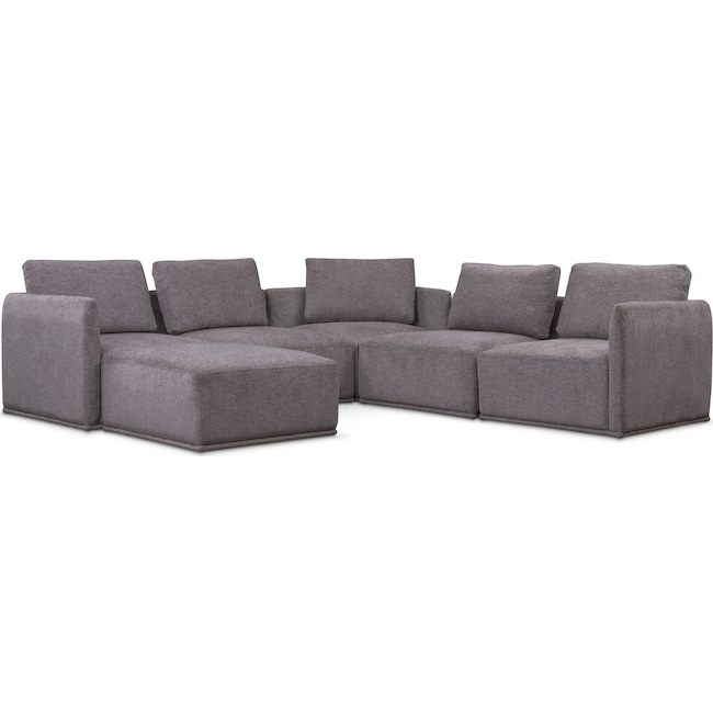 Living Room Furniture - Rio 6-Piece Sectional with 3 Corner Chairs