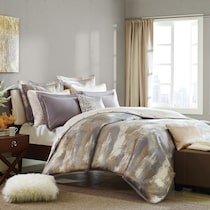 roe gray full queen bedding set