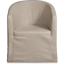ronan white accent chair
