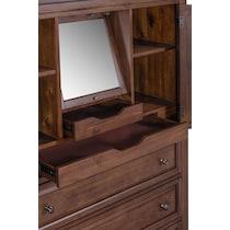 rosalie dark brown armoire