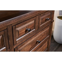 rosalie dark brown dresser