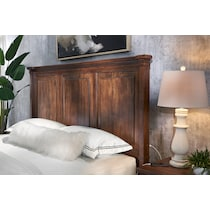 rosalie dark brown king bed