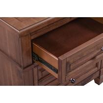 rosalie dark brown nightstand