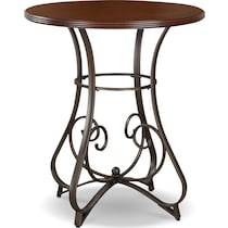 rosedale dark brown adjustable bar table