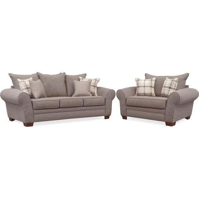 Living Room Furniture - Rowan Sofa and Chair and a Half Set