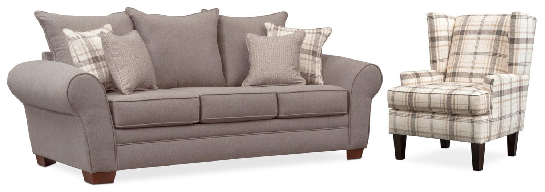Living Room Furniture - Rowan Sofa and Accent Chair Set