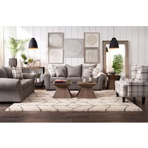 rowan gray  pc living room w chair