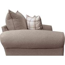 rowan gray chair and a half