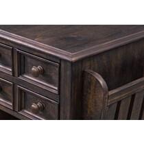 roxboro dark brown end table
