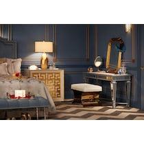royale mirrored sofa table