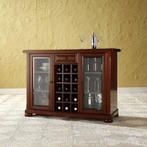 russell dark brown bar cabinet