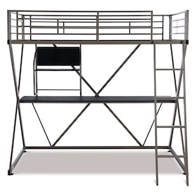 Ryker Twin Loft Bed with Desk