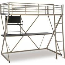 ryker gray twin loft bed with desk