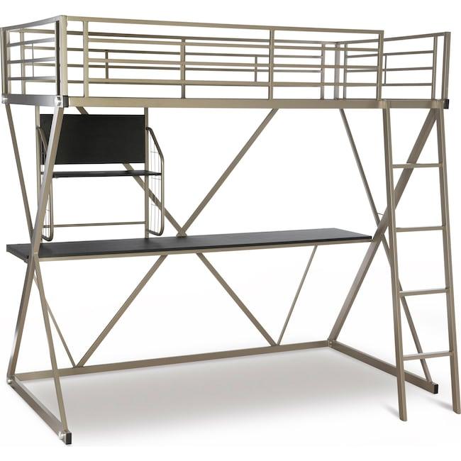 Bedroom Furniture - Ryker Twin Loft Bed with Desk