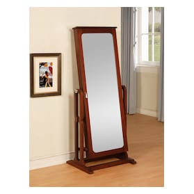 Sadie Cheval Storage Mirror - Cherry